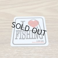 【B-SIDE LABEL STICKER】 I Love Fishing (BSL032)