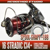 16 STRADIC Ci4+  C2000S, C2000HGS, C2500HGS, 2500S, 2500HGS, C3000, C3000HG, 3000XGM Spool Shaft 1 Bearing Kit [M size]  【SHG】