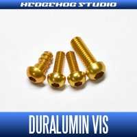 【Abu】 Duralumin Screw Set 5-6-6-8 【REV16】 GOLD