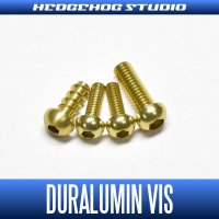 【Abu】 Duralumin Screw Set 5-6-6-8 【REV16】 CHAMPAGNE GOLD