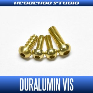 Photo1: 【Abu】 Duralumin Screw Set 5-6-6-8 【REV16】 CHAMPAGNE GOLD