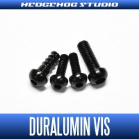【Abu】 Duralumin Screw Set 5-6-6-8 【REV16】 BLACK