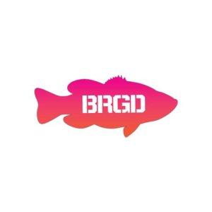 """Photo1: [Bass Brigade/バスブリゲード] LUNKER 7"""" GR STICKER - SUNSET (code:BRD102)"""