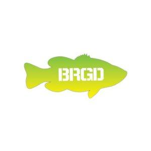 "Photo1: [Bass Brigade/バスブリゲード] LUNKER 7"" GR STICKER - LIMON (code:BRD103)"
