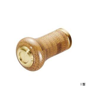 Photo1: [Shimano genuine] Yumeya bamboo handle knob type I